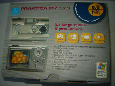 Praktica Dcz 3.2 S Boxed Silver Digital Camera