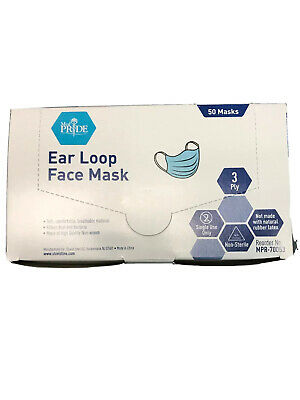 Medpride Face Mask Ear Loop New 50Ct Filters Bacteria Limited Time Free Shipping