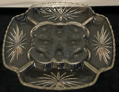 "Anchor Hocking EAPC* EARLY AMERICAN PRESCUT *11 3/4"" DEVILED EGG PLATE #750"