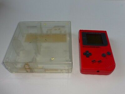 Game Boy Original Red Play It Loud Edition DMG-01 Tested Nintendo Gameboy case