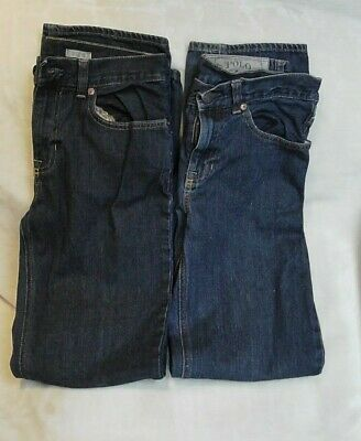 x2 Pairs of Boys Polo by Ralph Lauren Denim Jeans Age 16