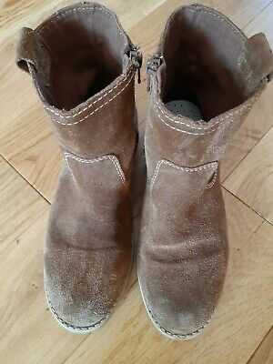 Zara Brown Suede Girls Ankle Boots. Size 38/5