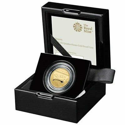 Royal Mint 2020 Music Band QUEEN 1/4 QUARTER OUNCE GOLD PROOF Coin COA LIMITED