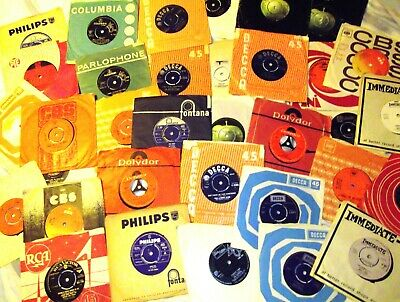 "Collection of 33 X 1960s Pop, Beat, Rock 7"" vinyl Singles 45s Job lot, Bundle"
