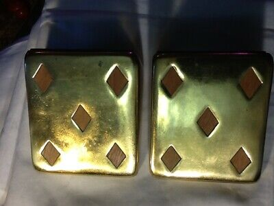 Mid Century Modern Ben Seibel Raymor Jenfred Ware 5 of Diamonds bookends