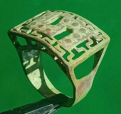 Exceptional ANCIENT Antique Medieval ROMAN BRONZE RING museum quality RING
