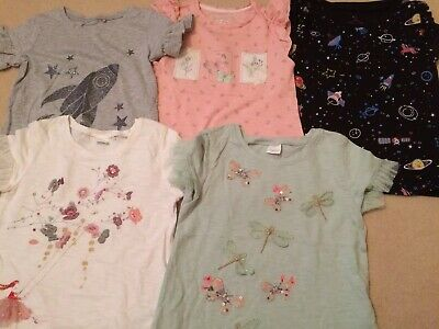 Girls Tshirt Bundle From Next And Mothercare Age 4-5 Years