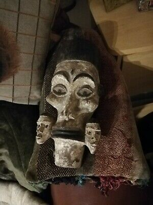 Antique/Vintage African 3 Headed Tribal Ceremonial Mask