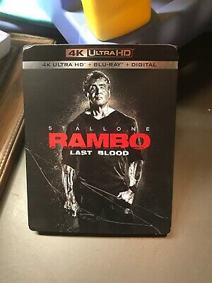 Rambo Last Blood 4K/Blu Ray Combo (No Dogital) Discs Never Opened