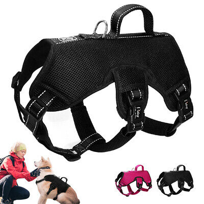 Large Dog Harness with Handle for Lifting No Pull Adjustable Padded Heavy Vest
