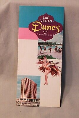 Dunes Casino Hotel & Country Club Las Vegas Promotion Flyer Near Mint Condition