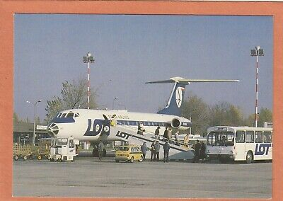 2133 - Lot - Tupolev  134 A Jet Airliner + Fiat 126 - Avion - Plane - Neuve