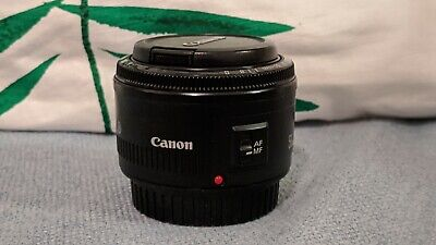 Canon EF 50mm F1.8 II Autofocus Prime Lens Sold with Front & Rear Lens Caps