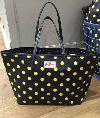 Cath Kidston Blue Large Dotted Shoulder Handbag Tote Bag