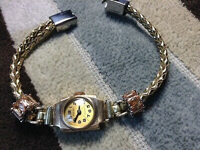 ROLEX-17 RUBY-9 K SOLID ROSE GOLD-ArtDECO COCKTAIL WATCH-READY TO WEAR-BEAUTIFUL