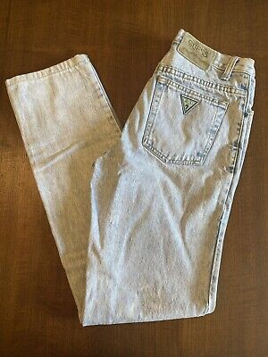 Vintage 80's Georges Marciano for GUESS Acid Wash Tapered Denim Jeans Mens