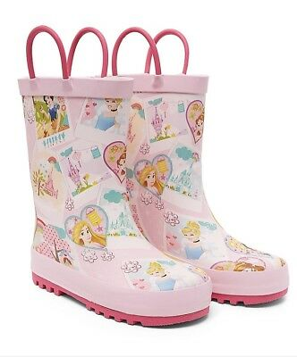 Mothercare Girls Disney Princess Belle Snow White Cinderella Wellies Size 5 NEW