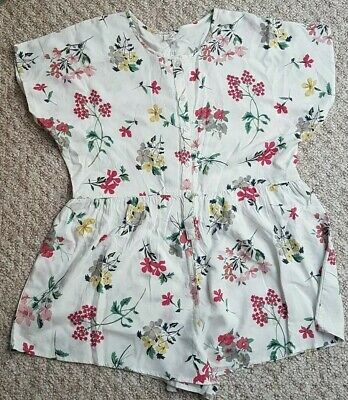 BNWT Next Girls White Floral Summery Playsuit 10yrs