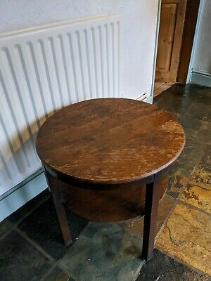 Old charm solid oak side table