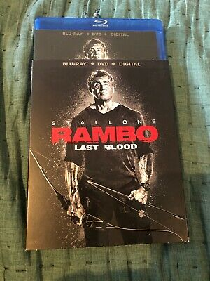 Rambo Last Blood bluray & dvd never used only opened for digital code