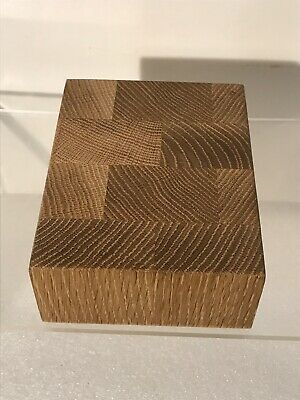 "Whit Oak Wood End Grain Cutting Board Size 5.25"" X 6.5"" X 2.5"""