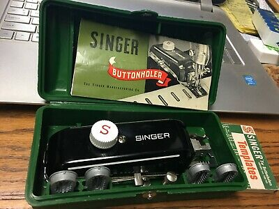 1948 Singer Buttonholer 160506 Complete W/Manual & 8 Temps Very Lightly Used
