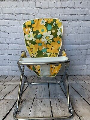 Vintage Retro Floral Cosco Peterson Foldable Baby Walker Bouncer Feeding Seat