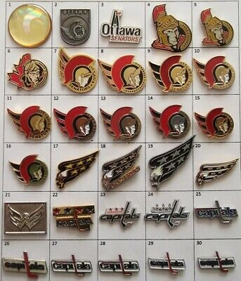 Different Teams :Ottawa Senators Washington Nhl Hockey Logo Pin Your Choice G869