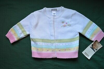 Carter's Baby Girl Cardigan Sweater Multicolored Size 6 Month NWT