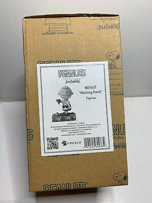 """JIM SHORE Peanuts CHARLIE BROWN with Ice Cream /""""Melting Point/""""  Figurine 4055657"""