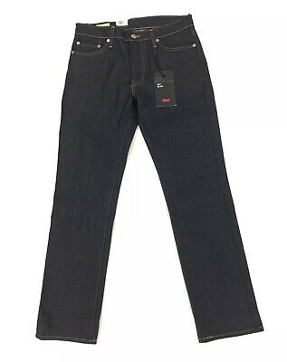 NEW Levi's Strauss 511 Slim Premium Dark Blue Mens Stretch Denim Jeans Red Tab