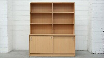 Office/Home Credenza w/ Hutch Beech Melamine 41056/3