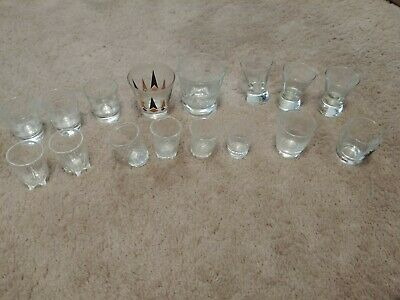 "Vintage 1960""s Lot of 16 Shot Glasses"