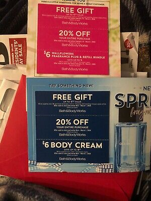 Bath And Body Works Coupons(x6)~ Valid Now Til 3-1-20