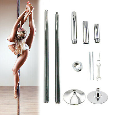 Portable Stainless Steel Dance Pole 45mm for Fitness Dancing Spin Exercise New