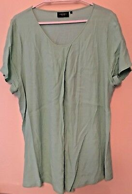 Jeans West Ladies Sht Sleeve Mint Green Blouse ~Sz 14~Stunning~Exc