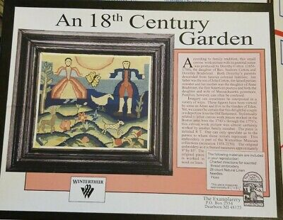 Winterthur 18th Century Garden Kit counted thread embroidery New