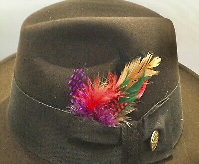 natural feathers for all hats leather straw wool felt fur Stetson hat AUS