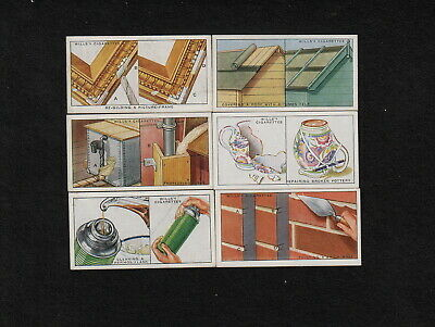 """s2123)     WILLS CIGARETTES TRADING CARDS """" HOUSEHOLD HINTS """"  FROM 1930"""