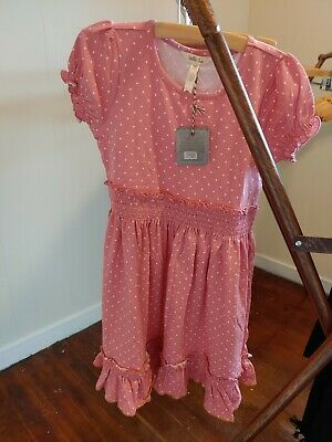 NEW NWT Matilda Jane Size 10 Lap Girls Dress Pink Polka Dot twirl