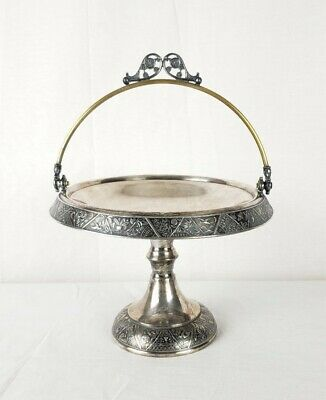 Antique Japanese Aesthetic Style Hartford Teiple Plate Silver Desert Stand