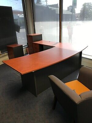 Office suite with desk and return, drawers, filing & side cupboards. Pickup only