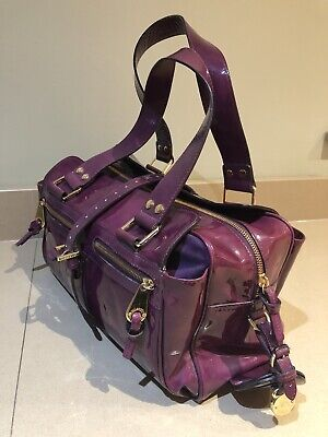 Purple patent limited edition Mulberry Mabel