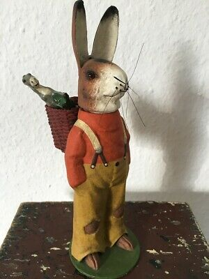 Alter Candy Container Osterhase Pappmachee Hase Easter Bunny gemarkt DRGM
