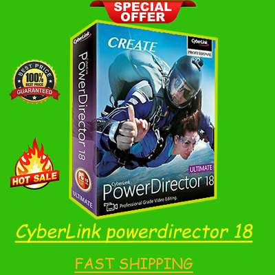 CyberLink powerdirector ultimate 18 > Lifetime > Live Support >Fast Ship