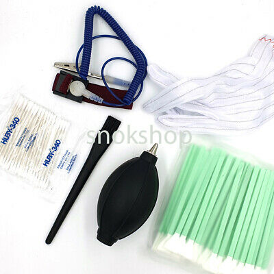 Kit Swab Pulizia Sensore Ccd Cmos Camera Cleaning Sensor Antistatic Gloves Pump
