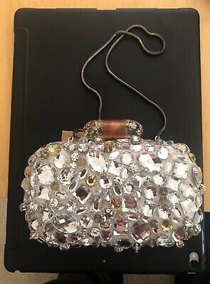 COACH, Brand new with tags, Silver Sparkly Small Clutch