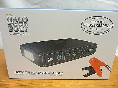 Halo Bolt 57720 Ultimate Portable Charger Car Jump Phone Tablet Light CT