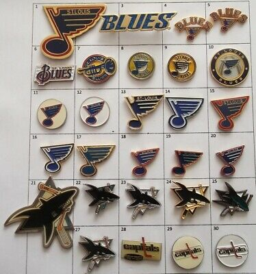 Different Teams : St.louis Blues San Jose++ Nhl Hockey Logo Pin Your Choice G873