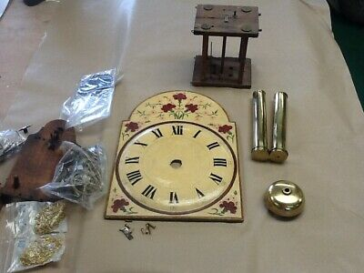 Antique wood face Black Forest pendulum clock